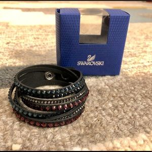 Swarovski bracelet blue and purple slake